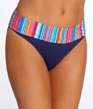 Anne Cole Signature: Triangle Stripe Fold-Over Bikini Bottom