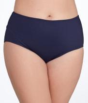 Anne Cole Signature: Solid Control Bikini Bottom Plus Size