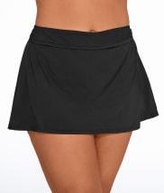 Anne Cole Signature: Solid Skirted Bikini Bottom Plus Size