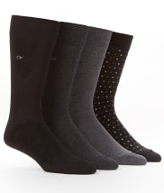 Calvin Klein Men's Dress Crew Socks 4-Pack