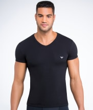 Eagle Stretch Cotton V-Neck T-Shirt