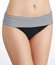 Panache: Anya Stripe Fold-Over Bikini Swim Bottom