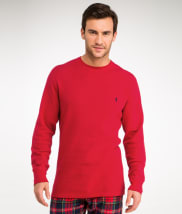 Waffle Knit Crew Neck Top
