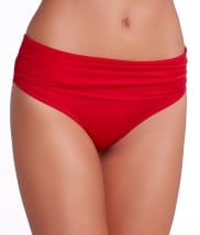 Pour Moi: Azure Fold-Over Swim Bottom