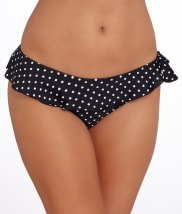 Pour Moi: Hot Spots Frill Bikini Swim Bottom